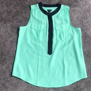 J. Crew Sleeveless Button down Blouse